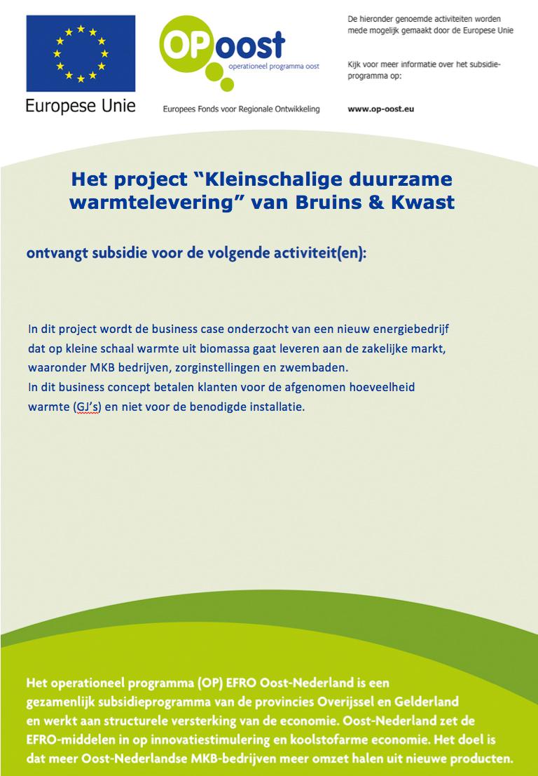 Bruins & Kwast | Kleinschalige Duurzame Warmtelevering